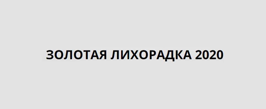 Золотая Лихорадка 2020. Можно ли заработать по методу Сергея Васютина